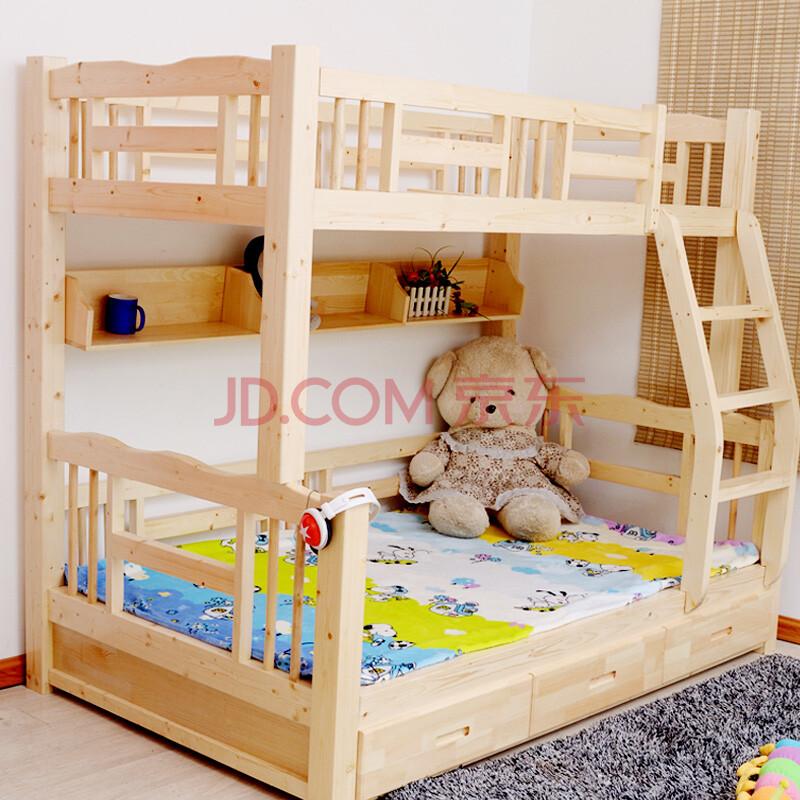 实木儿童床 松木上下床