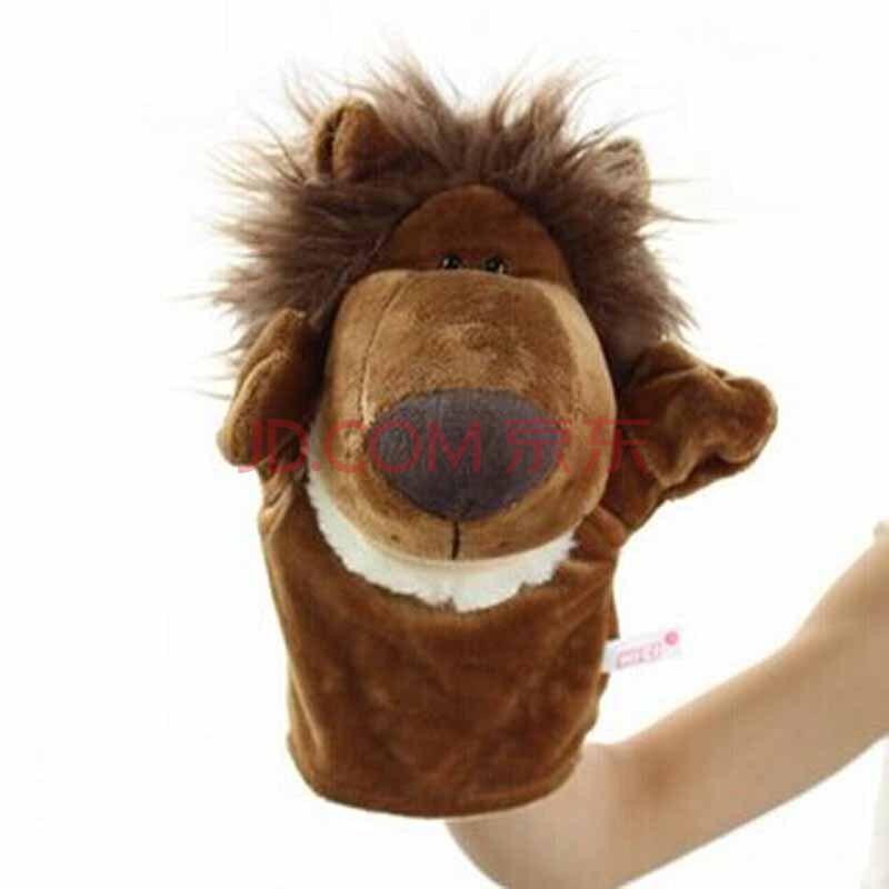 森林动物手套手偶毛绒玩具嘴巴能动宝宝安抚玩偶亲子讲故事y10 狮子 2