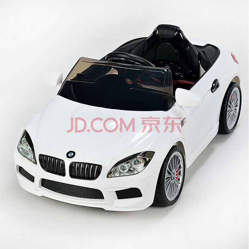 新款宝马m6儿童电动车四轮玩具汽车双驱安全可坐人带