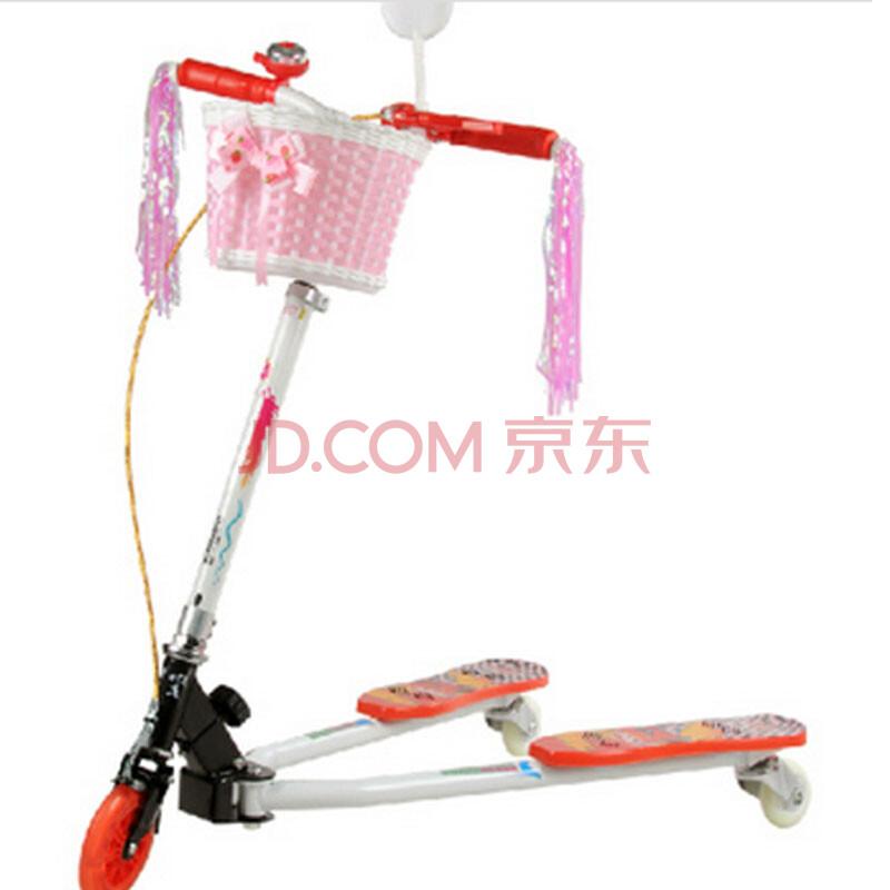 漂移儿童大宝蛙式滑板车蛙式三轮发光小孩玩具童车双后刹三轮车活力车