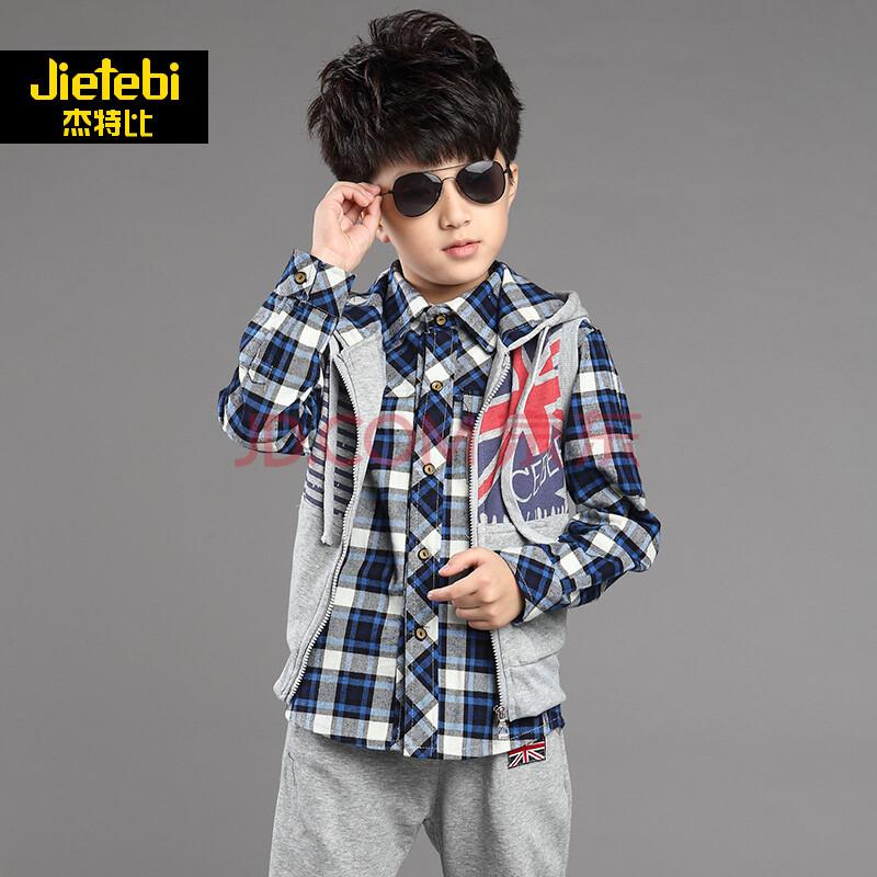 男童秋装套装 2014新款大童男装青少年运动休闲童装