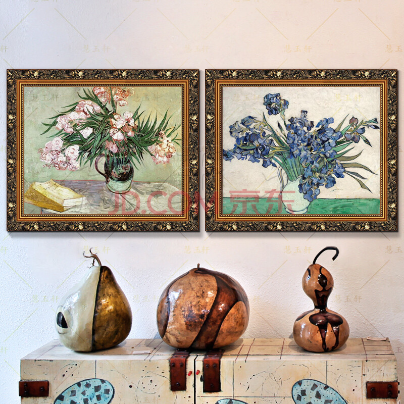 慧玉轩纯手绘油画梵高印象画客厅玄关实木有框挂画欧式正品世界名画鸢