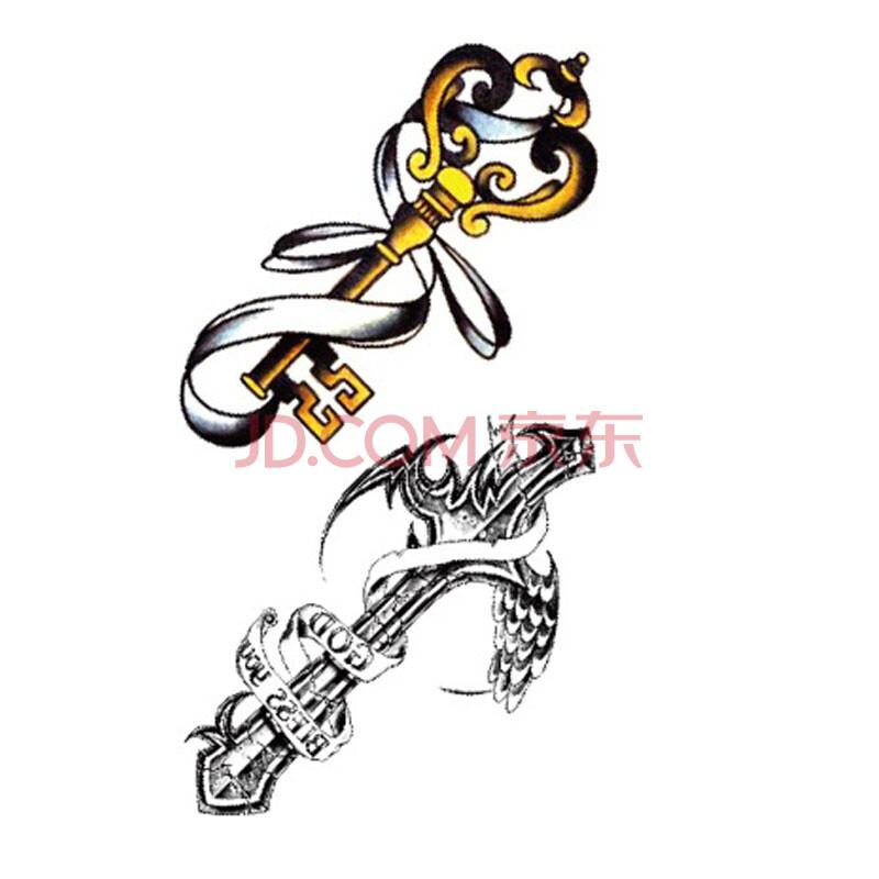 可定制彩色小清新图案纹身贴 男女款情侣款个性纹身贴纸羽毛蝴蝶结
