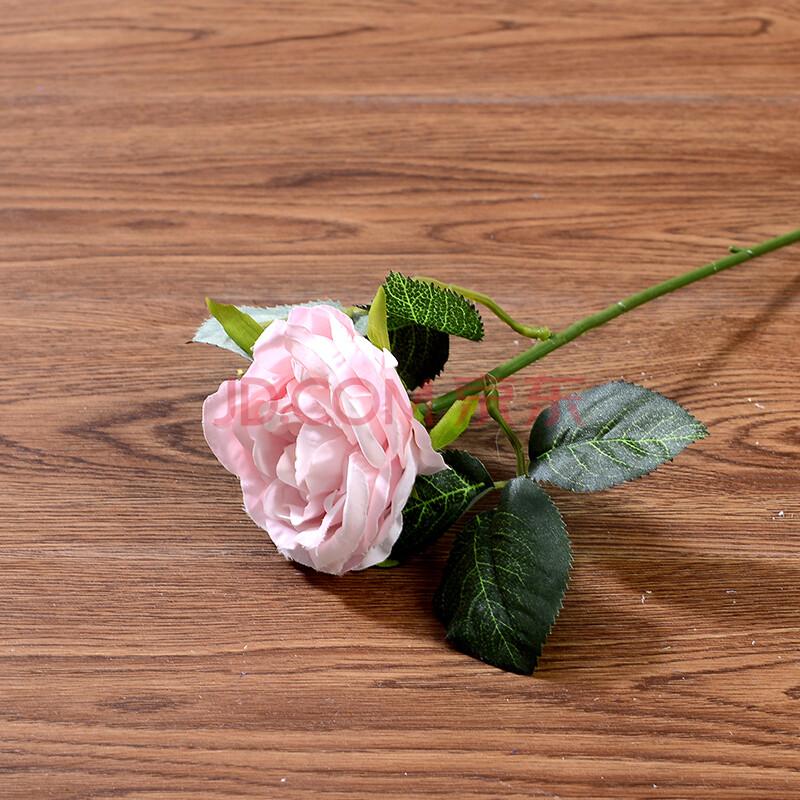 芳草园 小清新文艺花艺仿真花仿真玫瑰花单枝单支绢花
