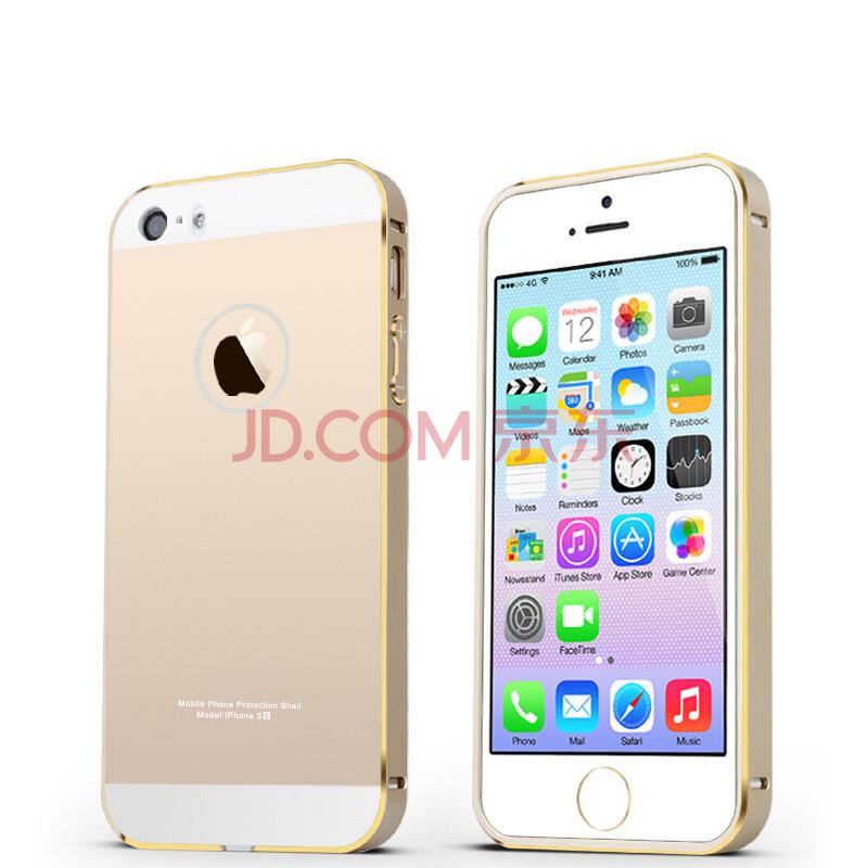 潮壳边框后盖pc外套手机壳v边框苹果适用于西餐iphone5/5s金边土豪金属三层餐盘图片