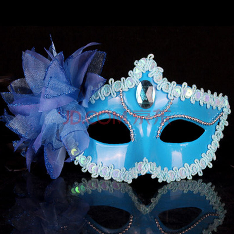 面具 化妆舞会面具 公主面具 半脸威尼斯派对男女表演面具 大百合花
