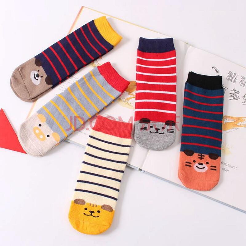 童袜男女儿袜童春秋2016新款可爱卡通横条动物组合袜