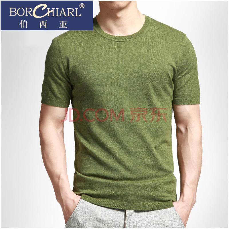 军绿色t恤男