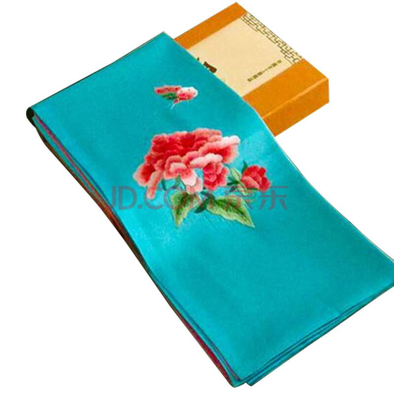 花语隆 蜀绣真丝巾 手工刺绣围巾工艺品 送老外出国中国风丝绸礼品图片