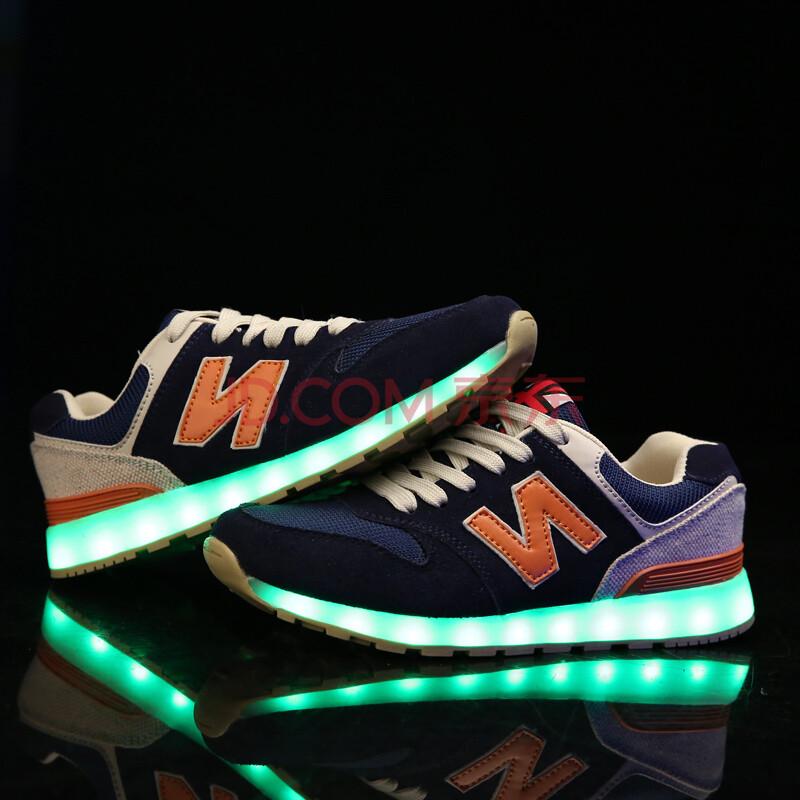 led灯鞋发光鞋情侣鞋七彩闪光亮灯休闲鞋鬼步舞男女