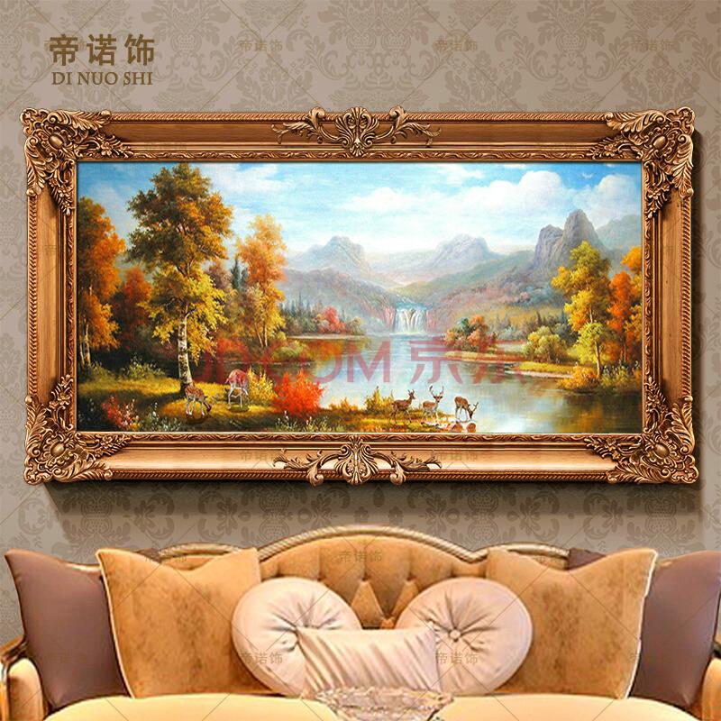 油画客厅装饰画欧式手绘风景壁画山水挂画