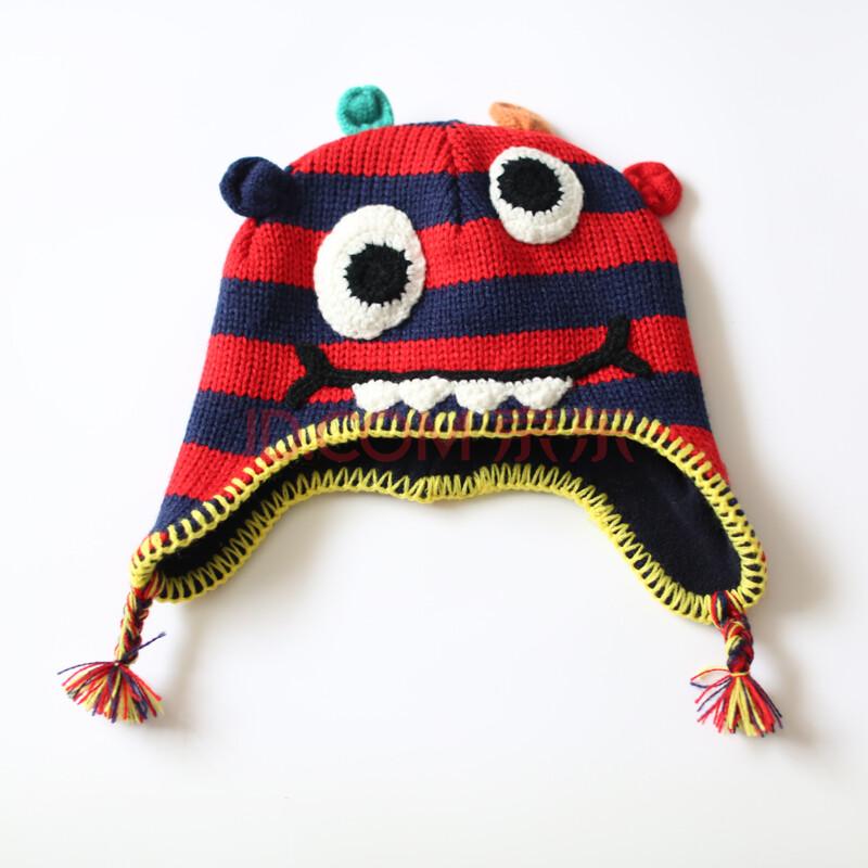 子织babyprints儿童帽子男毛线针织帽宝宝帽子女护耳帽套装2015新潮
