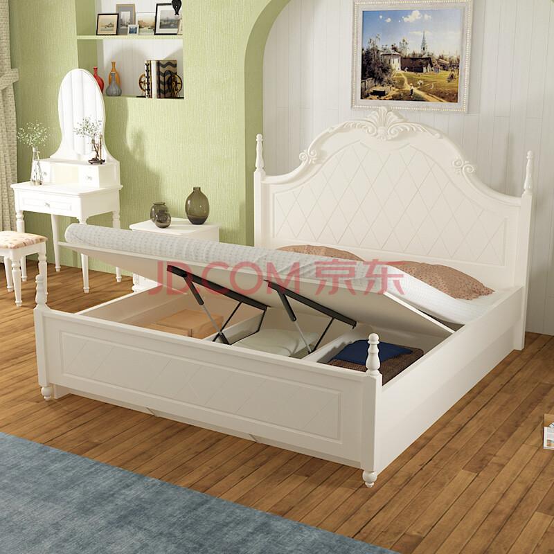 8米公主床简欧床hc601-2 储物床 1800*2000-物流自提价图片