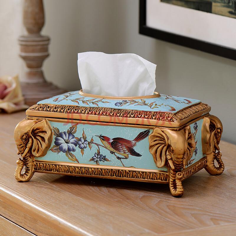 欧式客厅装饰纸巾盒摆件