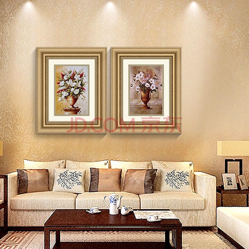 一家一画 欧式客厅装饰画现代风景画简约沙发背景墙画图片