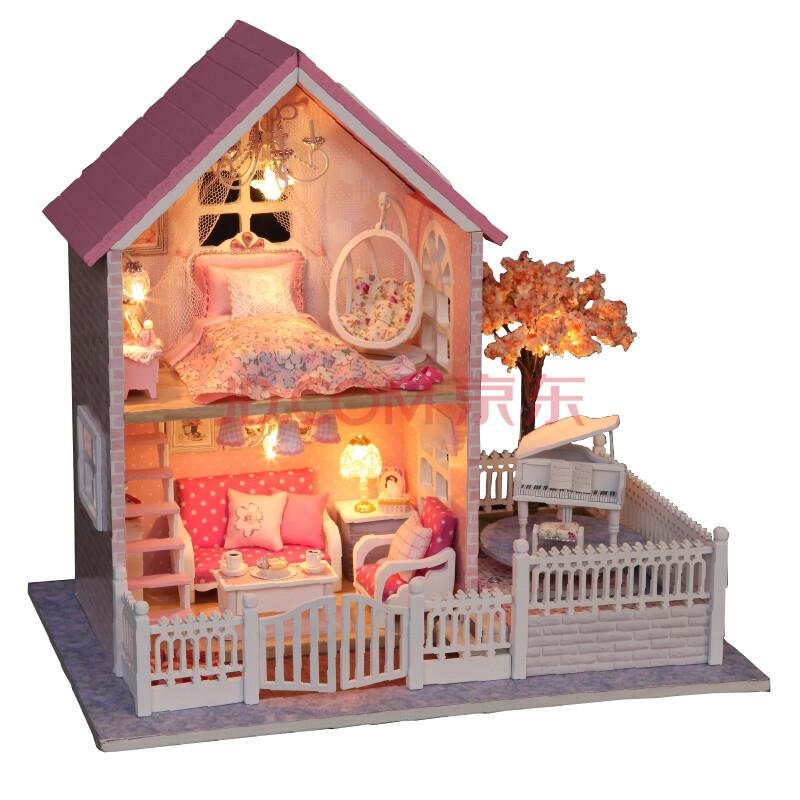 火知了diy别墅礼物小屋房价建筑模型创意别墅界首市手工礼品图片