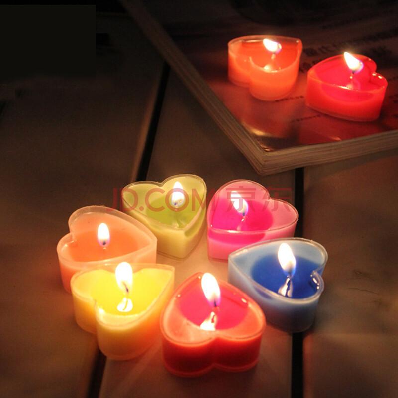 情人节精致pvc盒装心形蜡烛 香味蜡烛 浪漫求婚表白心图片