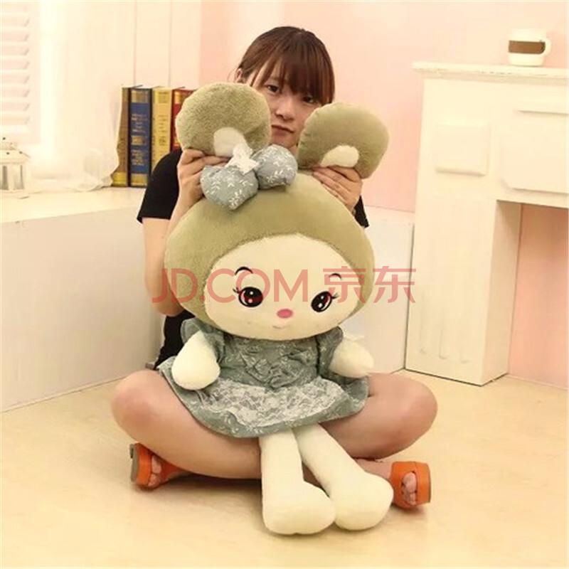 萌萌猪 毛绒玩具 可爱粉色兔子玩偶创意公主裙兔子公仔 粉色公主兔