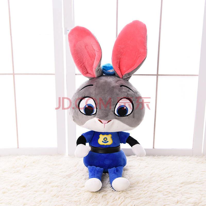 毛绒玩具疯狂动物城公仔兔子朱迪玩偶狐狸尼克娃娃儿童生日礼物女 q版图片
