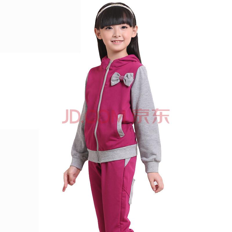 儿童运动套装女孩衣服