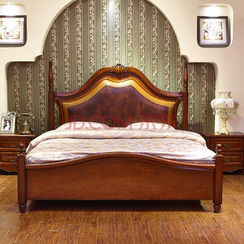 美式乡村家具美式软包床实木床美式实木家具美式家具美式乡村床图片