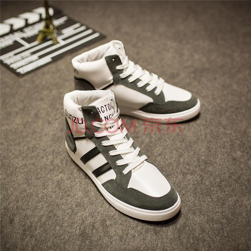 男生鞋子2014潮流_男韩版学生休闲鞋运动鞋潮流男鞋跑步鞋系带男生鞋子男式青少年日系
