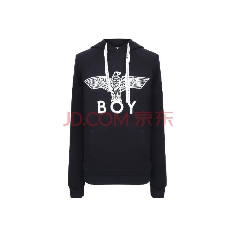 boy london 伦敦男孩 男士黑色老鹰logo卫衣 黑色 m