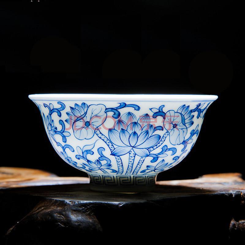 珍淘器 茶杯景德镇陶瓷手绘茶杯品茗杯个人杯主人杯白