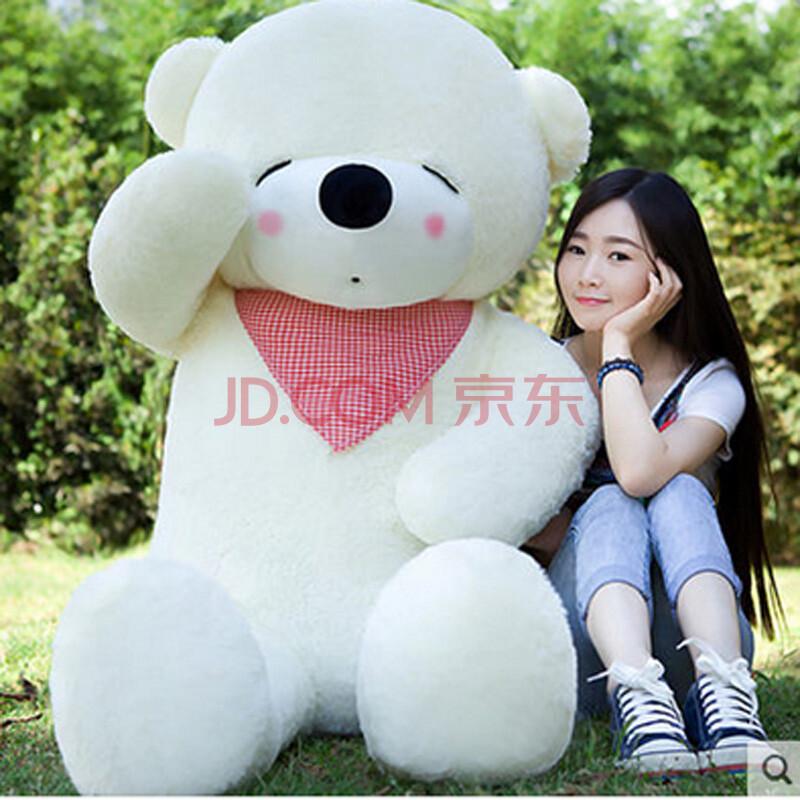 6米礼物熊猫公仔1.8米抱抱熊娃娃布娃娃大号狗熊女米白色眯眼熊1.生日城商品图片