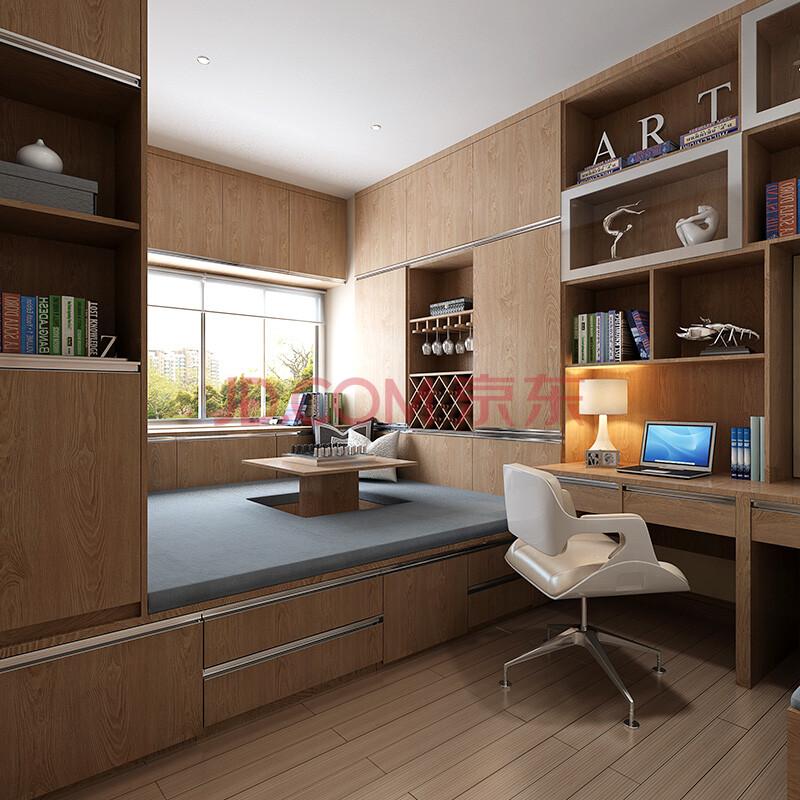 sogal索菲亚 衣柜 现代简约风格木质书柜酒柜榻榻米书桌电脑桌整体