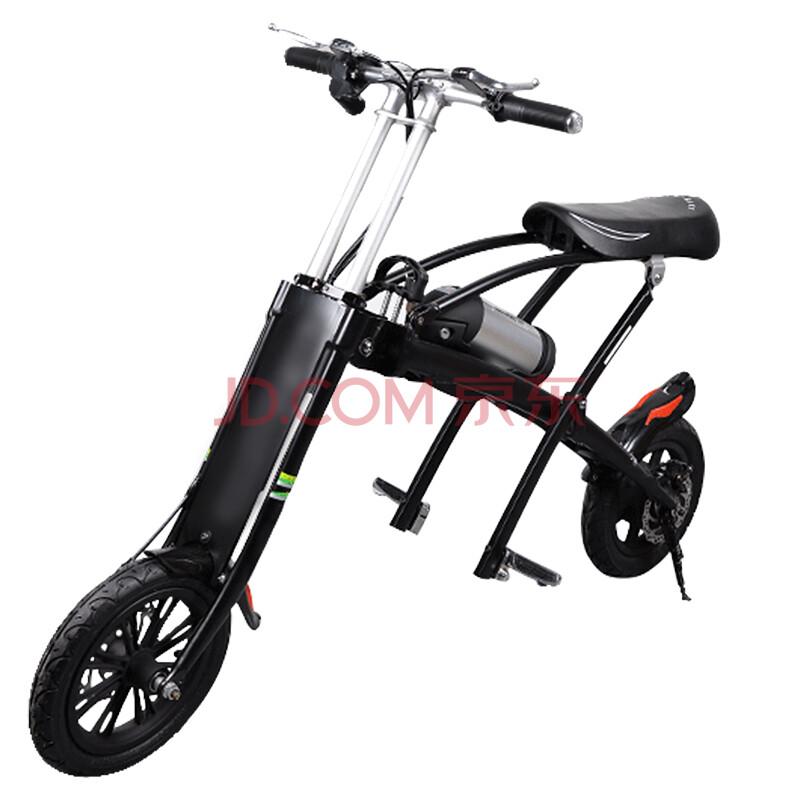 酷车e族 12寸折叠电动自行车锂电池单车成人代步车车
