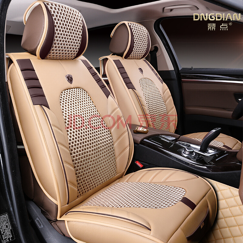 夏季冰丝汽车座垫套全包围皮革座套四季通用座套 标准版 温馨米 传祺