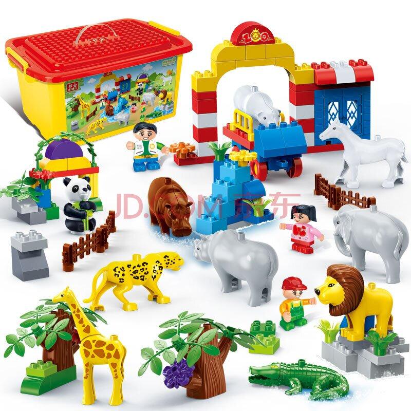 益智早教启蒙玩具 6535动物认知101pcs