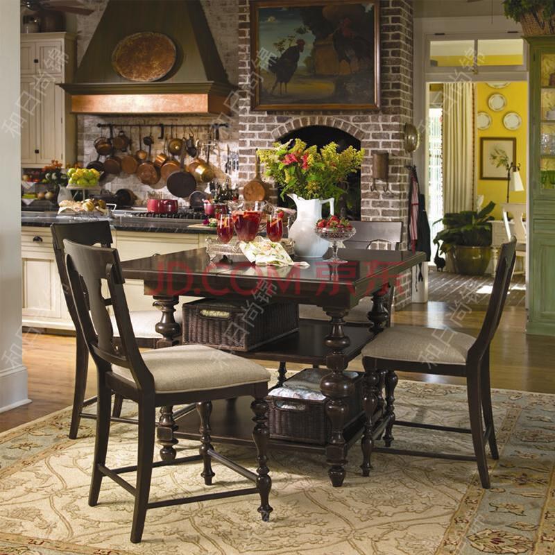 漫咖啡原木大板桌北欧老榆木餐桌 美式实木书桌 会议桌包邮 160*75*75