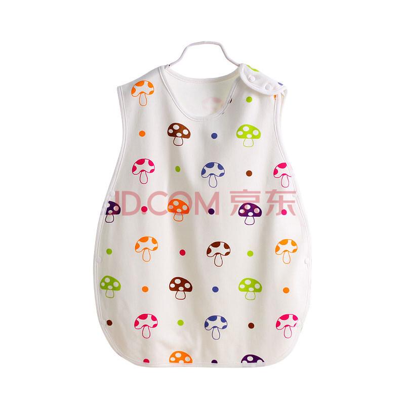 朗宝尼尔婴幼儿夏款背心式纽扣睡袋宝宝防踢被护肚睡袋儿童睡袋 蘑菇