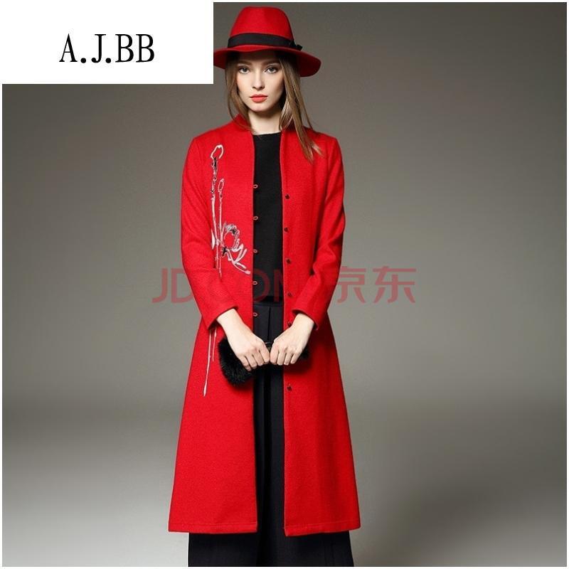 红色手绘服装效果图