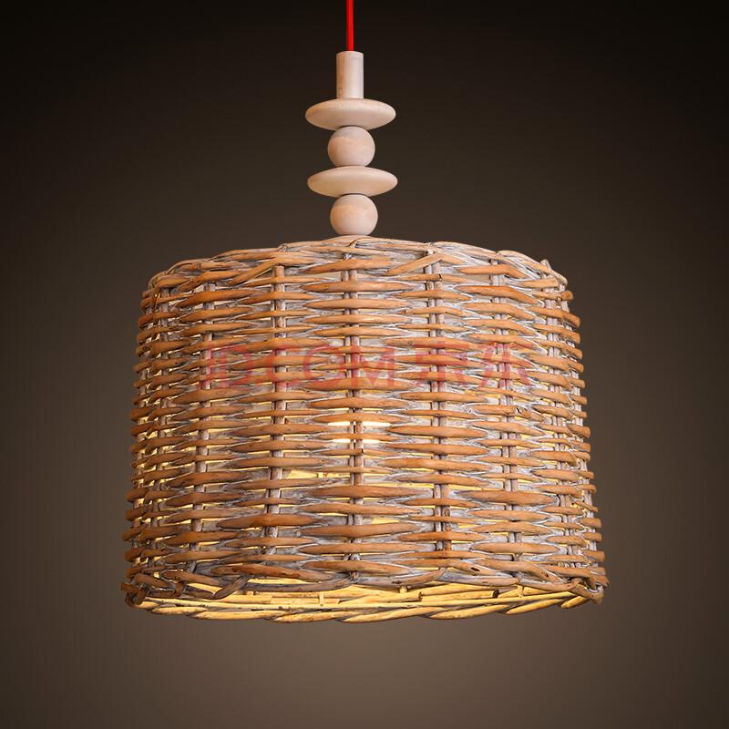 kc灯具新中式竹编吊灯东南亚餐厅吧台茶室灯日式竹子灯笼竹艺吊灯 15