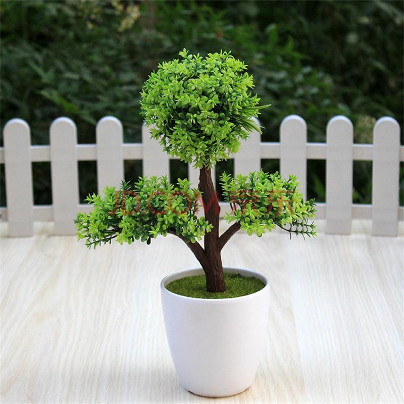 仿真绿色植物迷你小树草球盆栽盆景