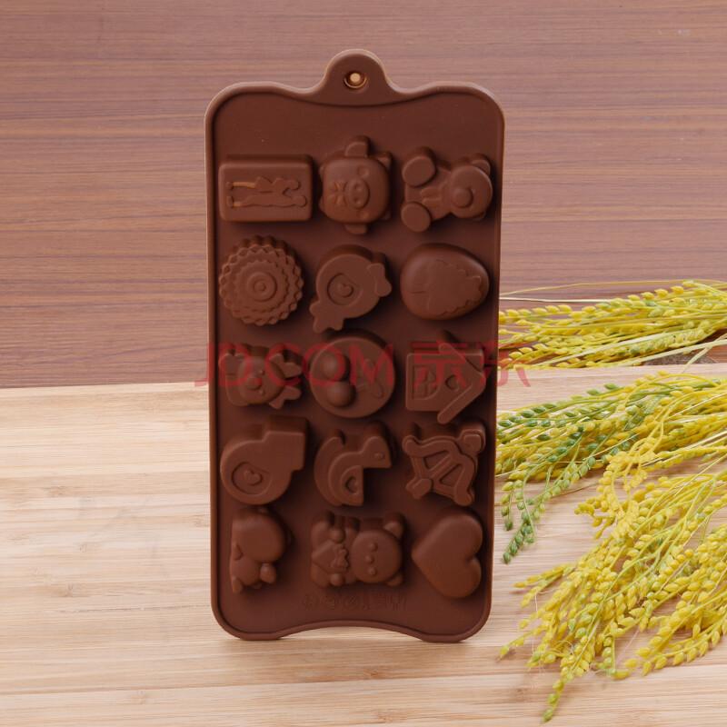 寻乐 手工巧克力硅胶模具 动物饼干模具 卡通形状烘焙