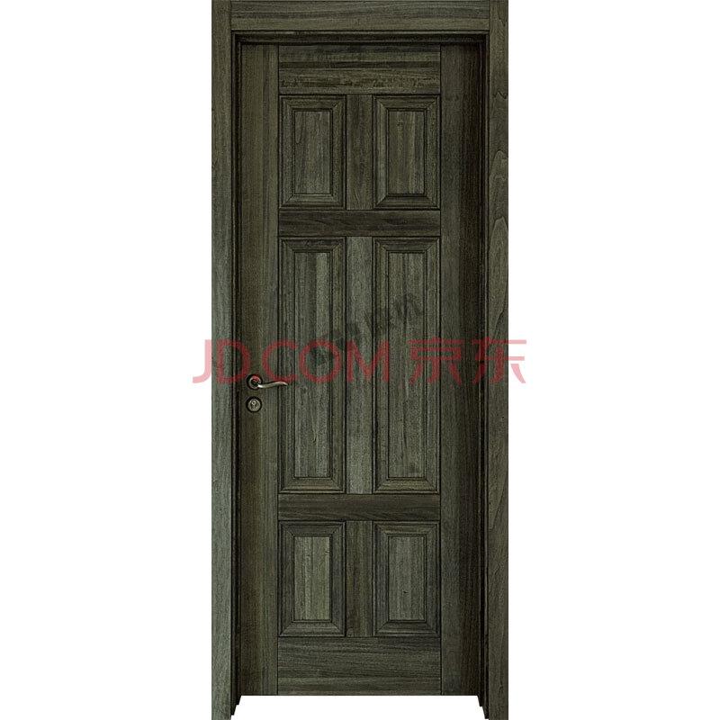 客厅门 卧室内门 厨房 免烤漆 实木门 复合门 简约六芯03-现代灰色