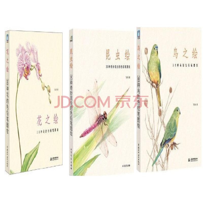 花之绘 昆虫绘 鸟之绘 色铅笔教程 手绘插画书籍 飞乐鸟 书23 彩铅