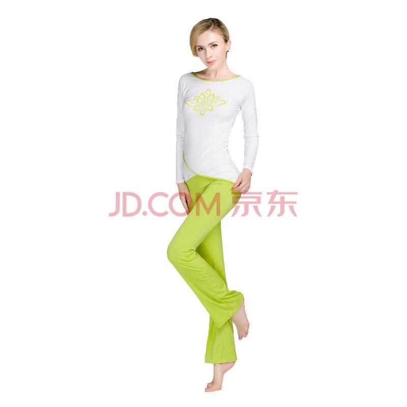 2014秋冬瑜伽服莱卡印花图案运动套装