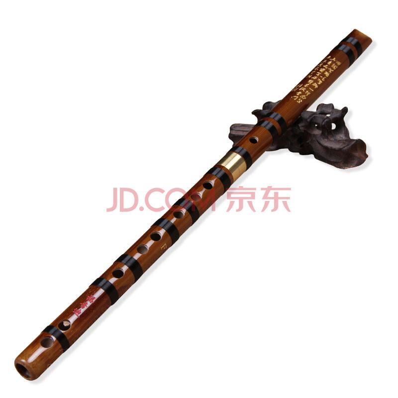 福音迪 竖笛竹笛 单插黄铜两节笛子 纯手工制作 专业考级练习通用 e调