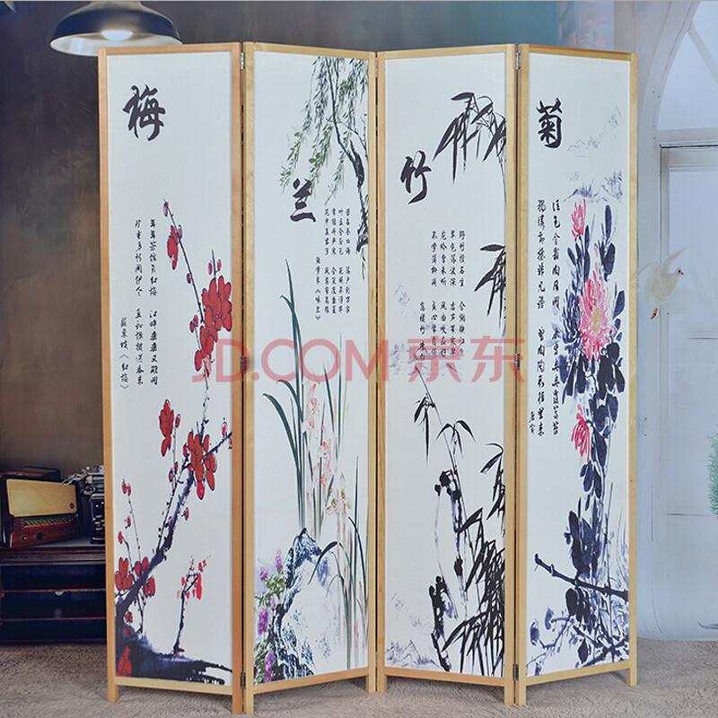 【京好】古风屏风 竹编折叠屏风