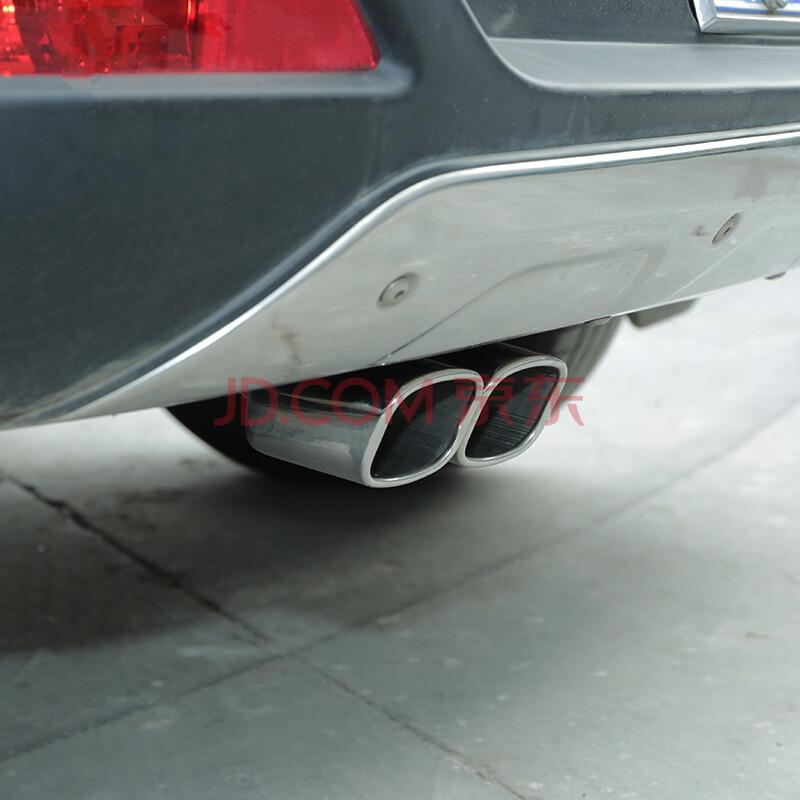 乐炫 汽车改装排气管套 一出二消声器双管装饰罩1分2