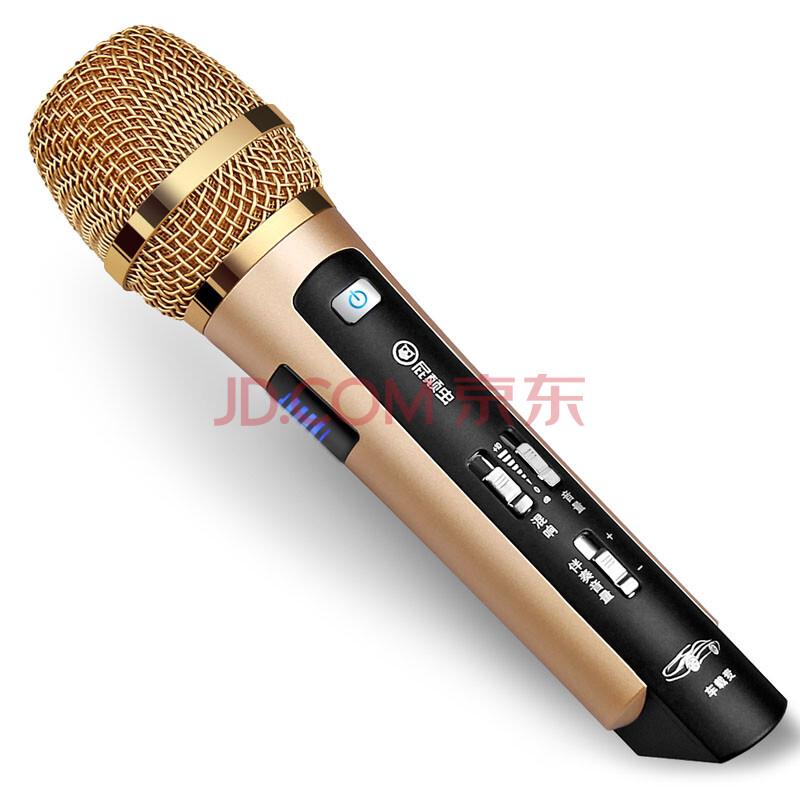 屁颠虫MC-101/600无线麦克风汽车无线话筒唱吧麦克风全民K歌手机麦克风电脑麦克风话筒 MC-101香槟金