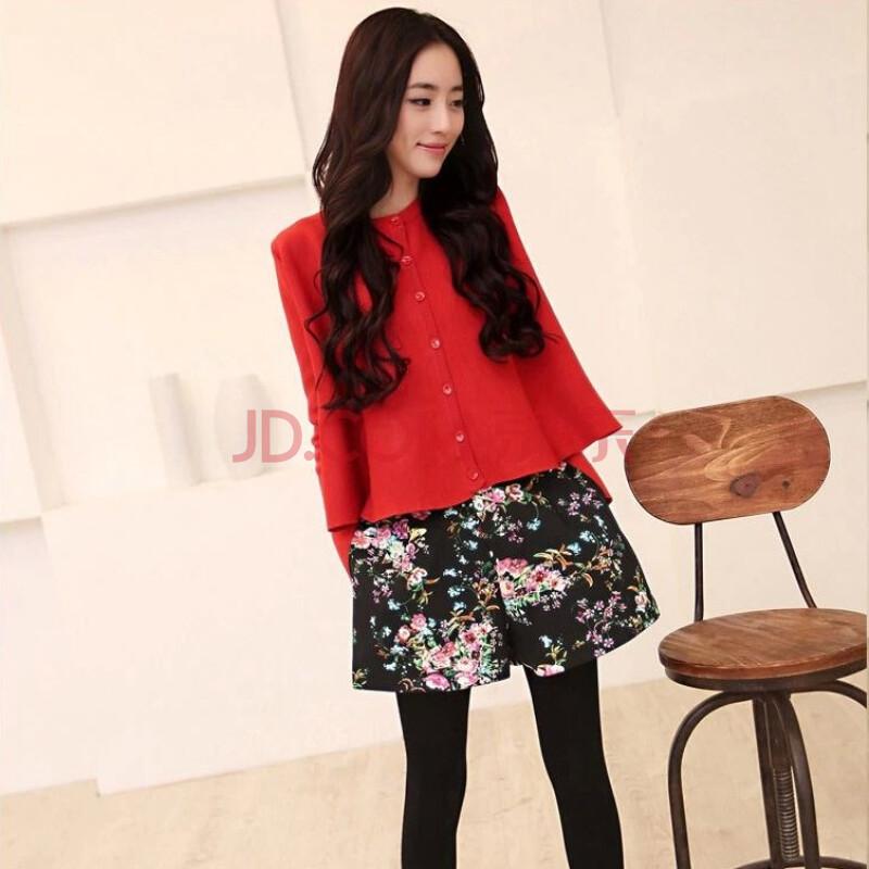 秋装新款韩版针织衫外套 毛衣开衫 宽松斗篷披肩女9153 红色 均码
