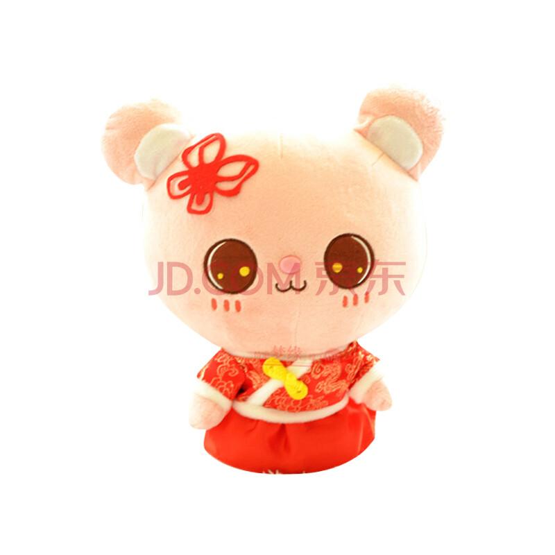 唐装想念熊情侣公仔毛绒玩具可爱布娃娃抱抱熊轻松熊创意玩偶大号布