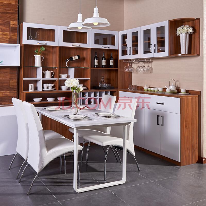 好莱客餐厅家具定制 木质餐边柜餐酒柜餐桌餐椅整体组合套餐 特权订金图片
