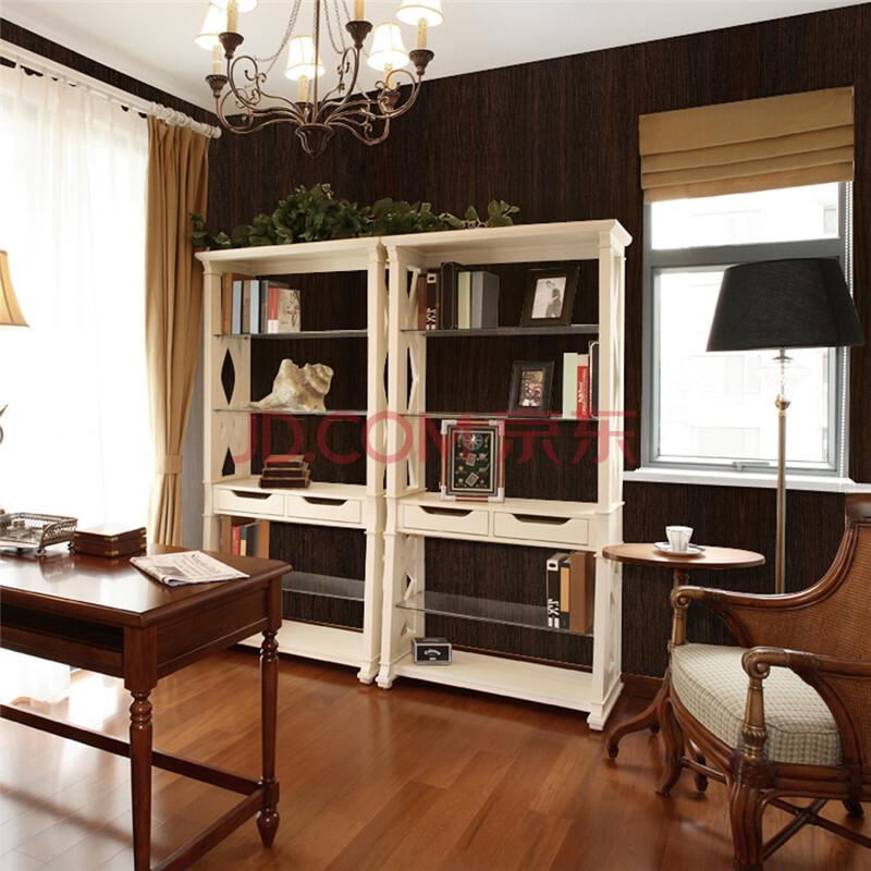 贴纸衣柜家具翻新贴纸厨房壁纸加厚防水墙纸10米 黑胡桃木纹贴2091